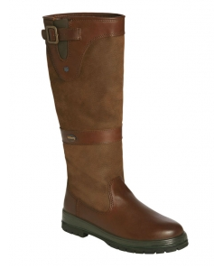 Brown leather mid height country boot