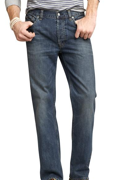 Mid blue men's jeans from Gap