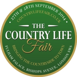 Green and gold The Country Life Fair logo