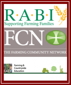 R.A.B.I logo, FCN logo and FACE logo sandwiched together with red backround